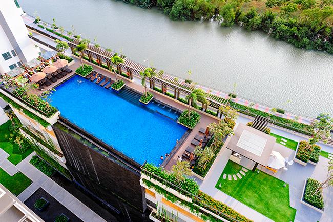 Hình thực tế hồ bơi căn hộ The View Riviera Point quận 7.