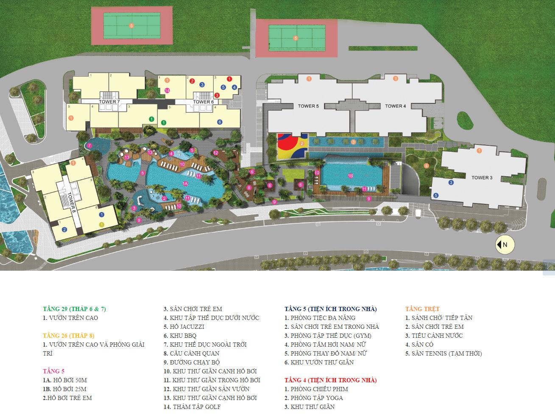 Tiện ích dự án căn hộ The View Riviera Point quận 7.