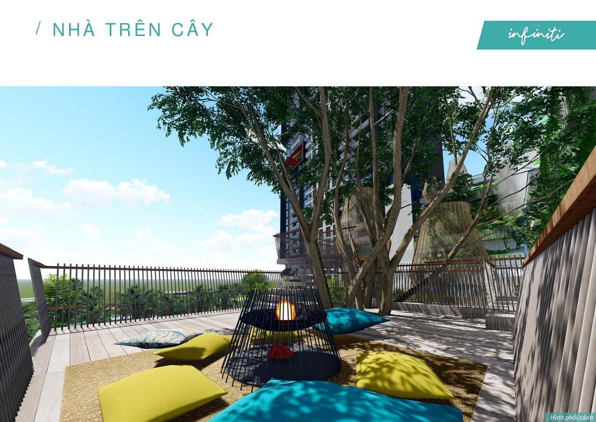 Nhà trên cây độc đáo có thể cắm trại qua đêm tại căn hộ The Infiniti Riviera Point.