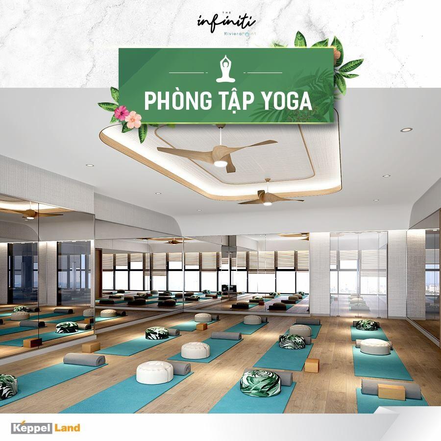 Phòng tập Yoga tại căn hộ The Infiniti at Riviera Point quận 7.