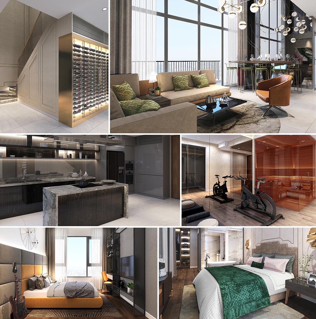 Thiết kế thông minh từng chi tiết tại căn hộ The Infiniti Riviera Point quận 7.