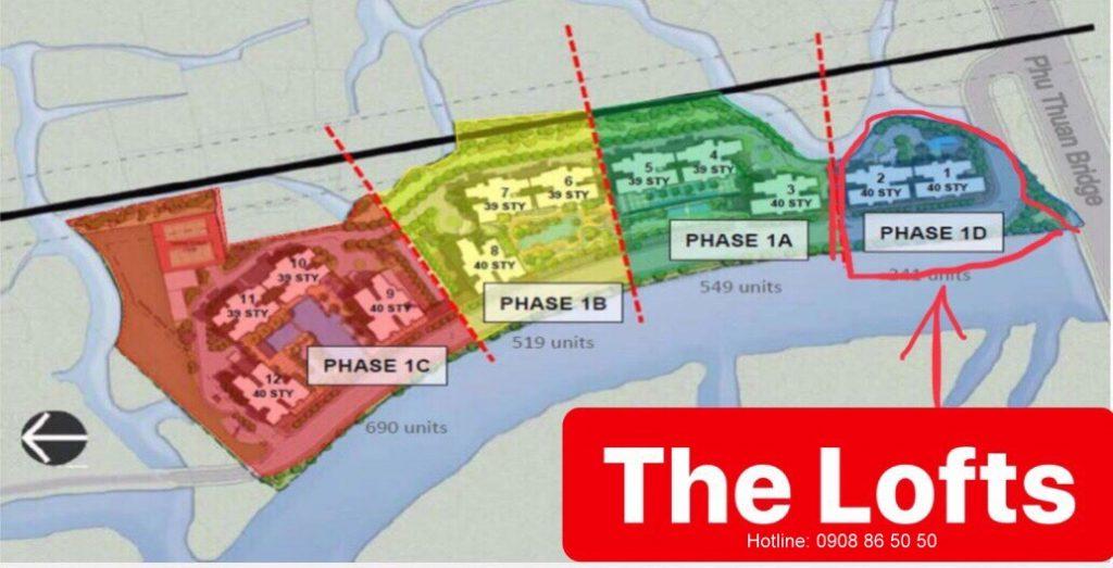 Giai đoạnThe Loft tại căn hộ Riviera Point quận 7 - Keppel land.