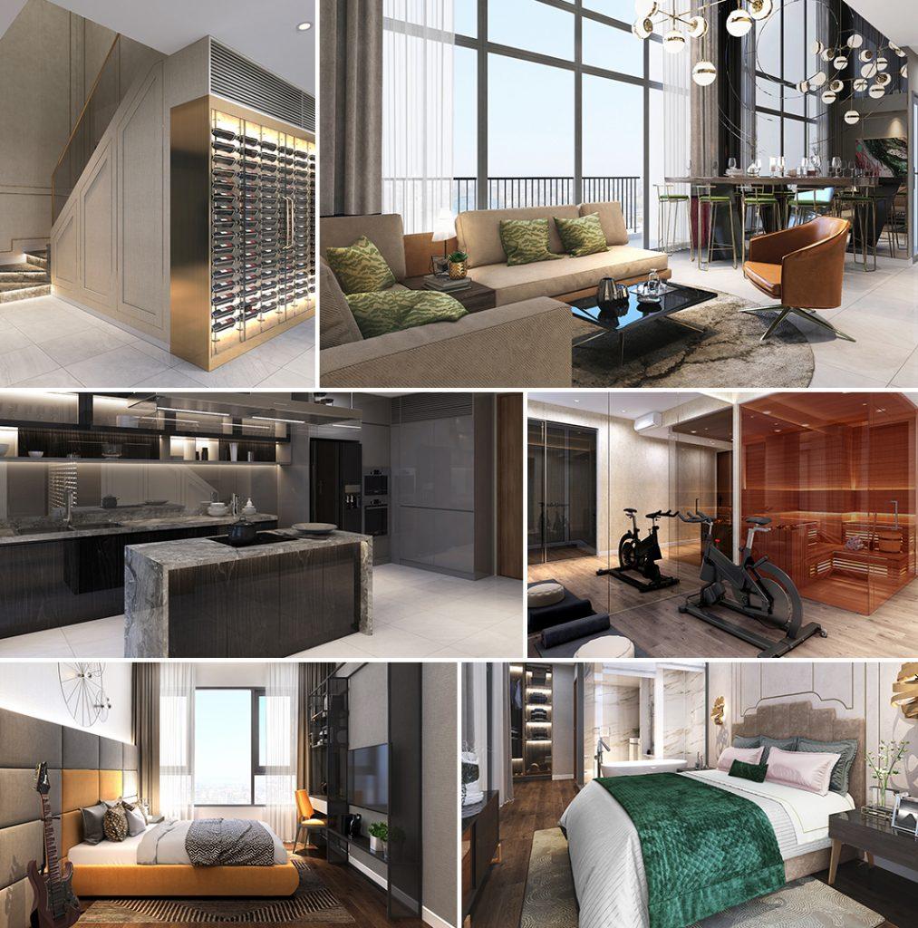 Thiết kế thông minh từng chi tiết tại căn hộ The Loft Riviera Point quận 7 - Keppel land.