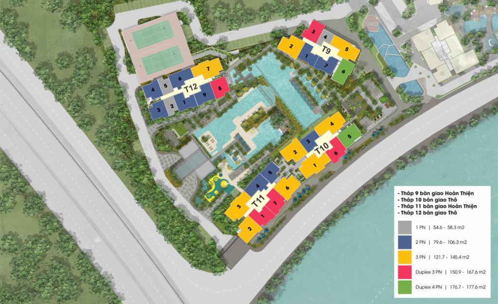 Mặt bằng dự án căn hộ The Infiniti Riviera Point quận 7.